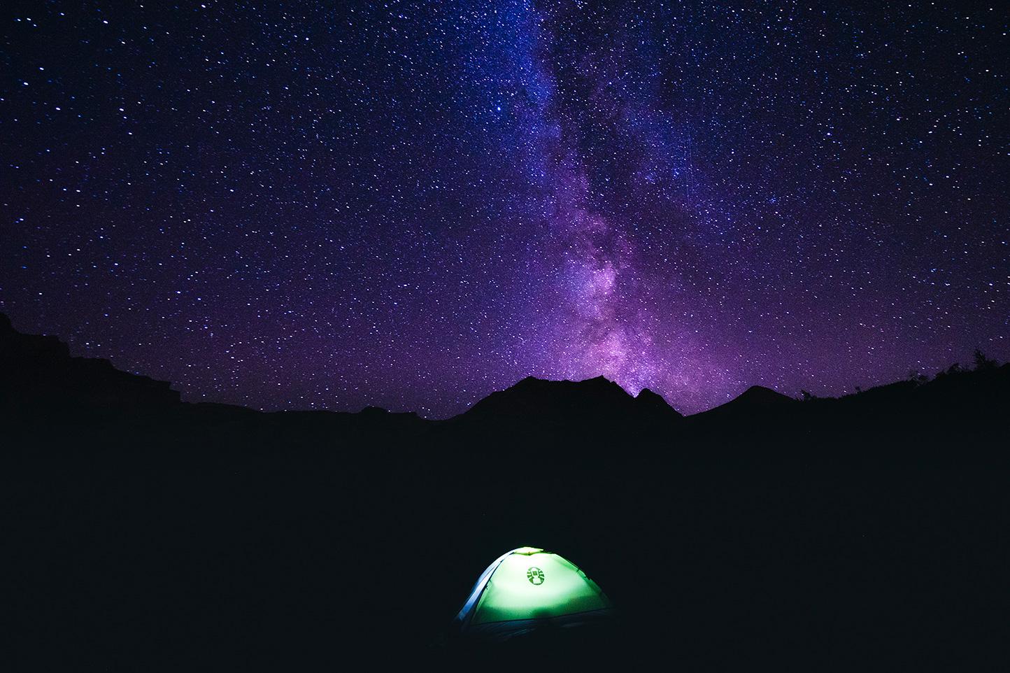 micro aventure en montagne